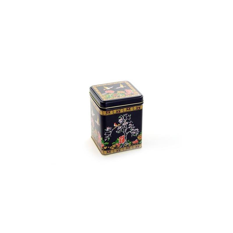 """Dose """"Magnolia"""", 100 g eckig, Stülpdeckel, matt 9,8 x 6,5 x 6,5 cm"""