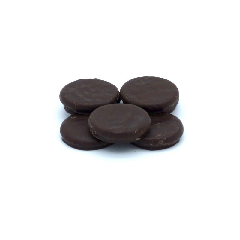 Pfefferminz-Taler mit Schokolade
