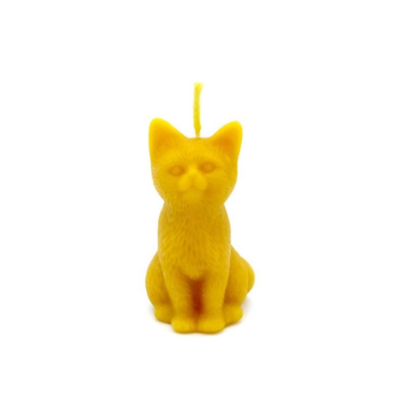 """Bienenwachskerze """"Katze"""""""