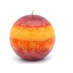 """Kugelkerze """"Rot-Orange"""" Paraffin"""